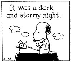 Snoopy It Was Dark And Stormy Night